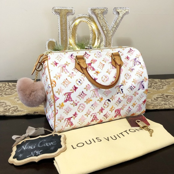 1aabf11f92c8 Louis Vuitton Handbags - RARE! Louis Vuitton Speedy 30 Watercolor Aquarelle